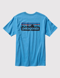 Patagonia Men's P-6 Logo Cotton T-Shirt Shirts Ascent Wear - 4