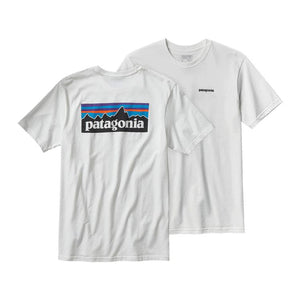 Patagonia Men's P-6 Logo Cotton T-Shirt Shirts Ascent Wear - 2