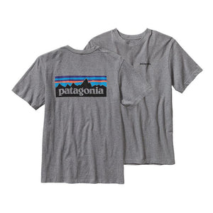 Patagonia Men's P-6 Logo Cotton T-Shirt Shirts Ascent Wear - 1