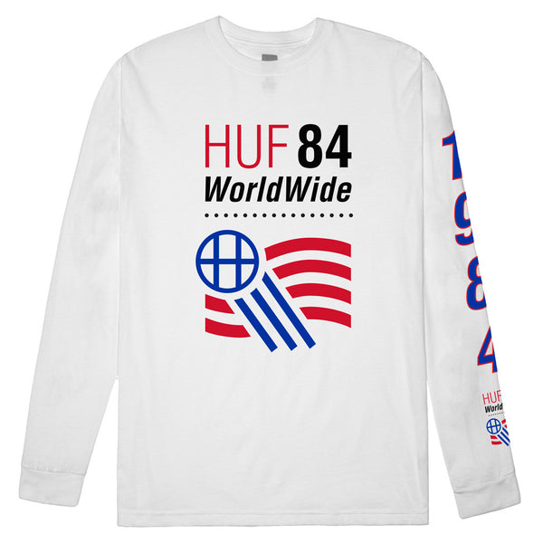 Huf 1984 L/S Shirt White Shirts Ascent Wear