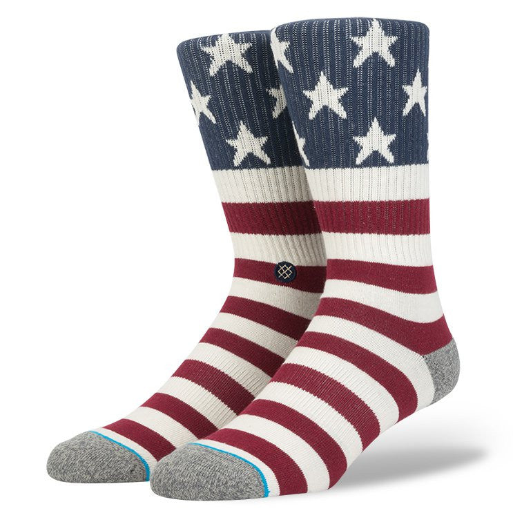 Stance Vinty Sock Red/White/Blue Socks Ascent Wear