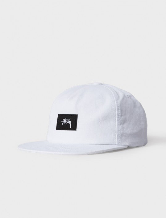 Stussy Cotton Linen Twill Strapback Hat White Hats Ascent Wear - 1