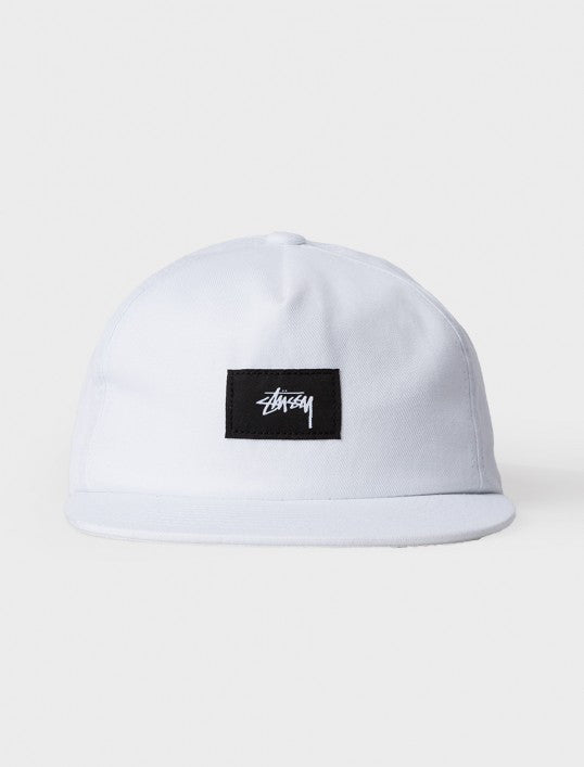 Stussy Cotton Linen Twill Strapback Hat White Hats Ascent Wear - 2