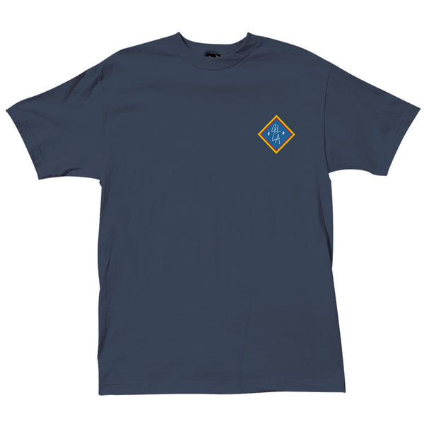 The Quiet Life Emblem T-Shirt Harbor Blue Shirts Ascent Wear - 1