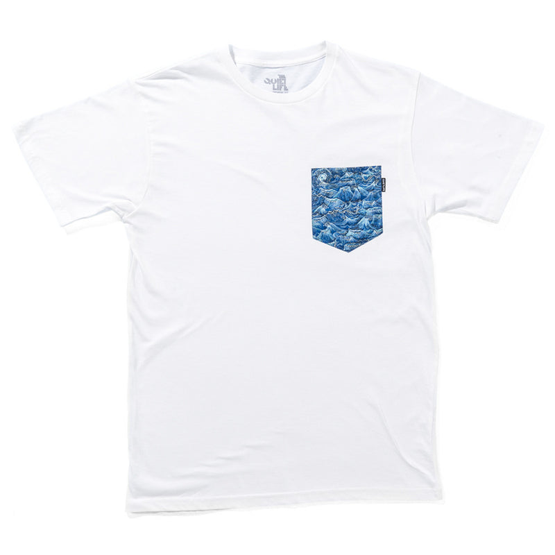 The Quiet Life Wave Pocket T-Shirt White Shirts Ascent Wear - 1