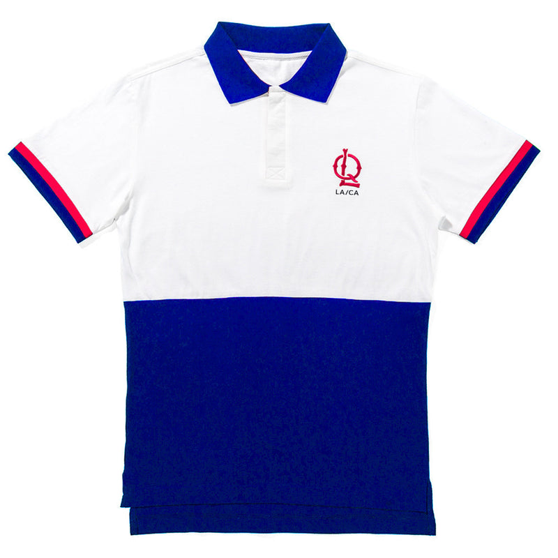 The Quiet Life Wakefield Polo White/Royal Blue Shirts Ascent Wear