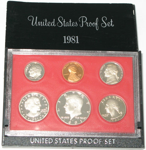 1981 US Mint Proof Set (Type 1)