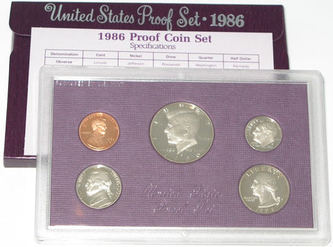 1986 US Mint Proof Set