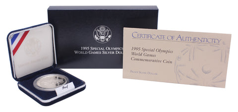 1995 Special Olympics Commemorative Silver Dollar Proof
