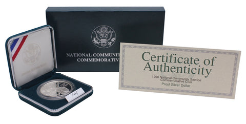 1996 National Community Service Commemorative Silver Dollar Proof