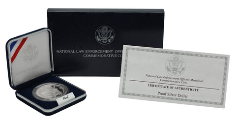 1997 National Law Enforcement Commemorative Silver Dollar Proof