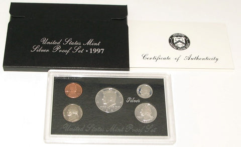 1997 US Mint Silver Proof Set