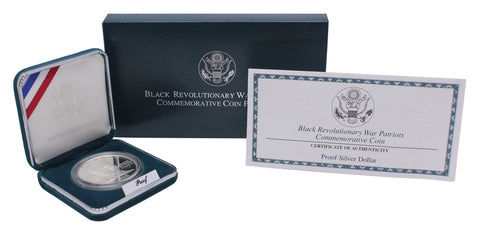 1998 Black Revolutionary War Patriots Commemorative Silver Dollar Proof