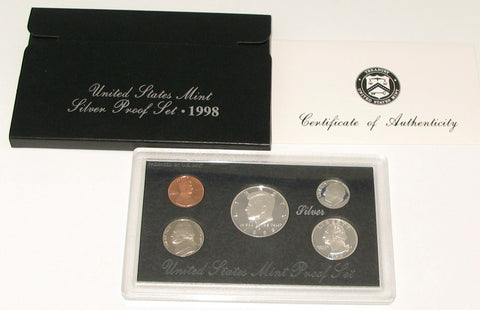 1998 US Mint Silver Proof Set