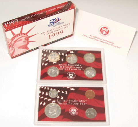 1999 US Mint Silver Proof Set