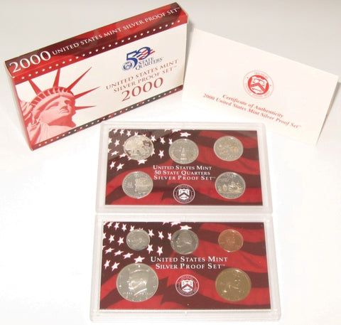 2000 US Mint Silver Proof Set