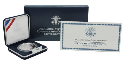 2001 Capitol Visitor Center Commemorative Silver Dollar Proof