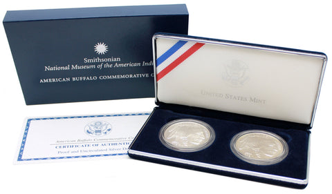 2001 American Buffalo 2-Coin Commemorative Silver Dollar Set