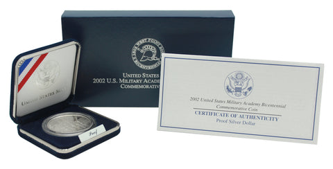 2002 West Point Military Academy Commemorative Silver Dollar Proof