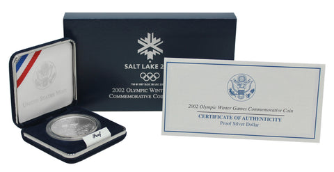 2002 Salt Lake Winter Olympics Commemorative Silver Dollar Proof
