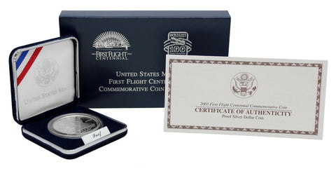 2003 First Flight Commemorative Silver Dollar Proof