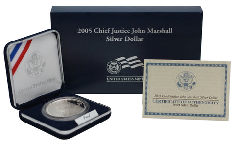 2005 Chief Justice John Marshall Commemorative Silver Dollar Proof