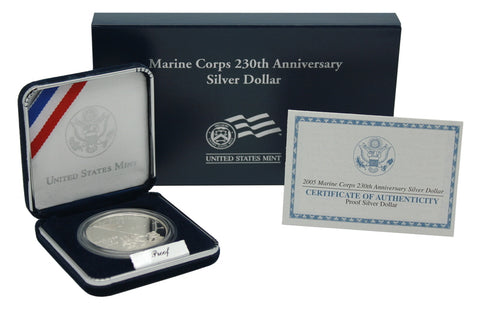 2005 Marine Corps Commemorative Silver Dollar Proof