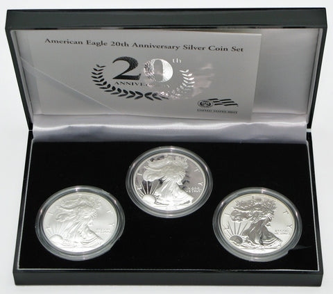 2006 Silver American Eagle 20th Anniversary 3-Coin Set
