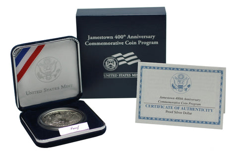 2007 Jamestown Commemorative Silver Dollar Proof