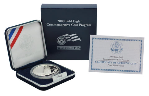 2008 Bald Eagle Commemorative Silver Dollar Proof