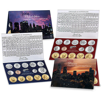 2008 US Mint Uncirculated Coin Set