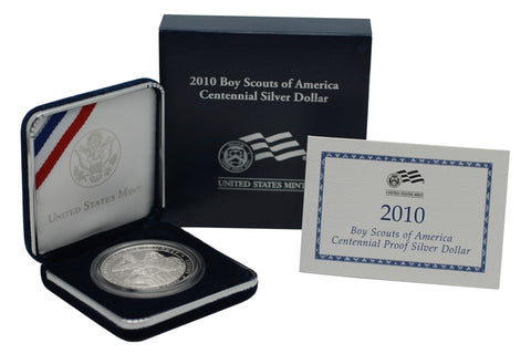 2010 Boy Scouts of America Commemorative Silver Dollar Proof