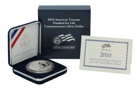 2010 Disabled American Veterans Commemorative Silver Dollar Proof