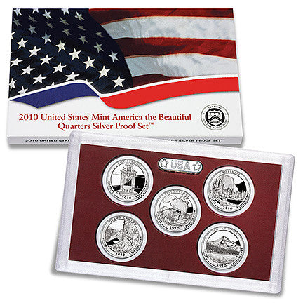 2010 Silver America the Beautiful Quarter Proof Set