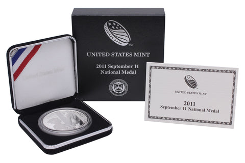 2011-W September 11 Commemorative Silver Medal Proof