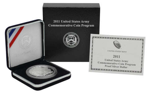 2011 United States Army Commemorative Silver Dollar Proof