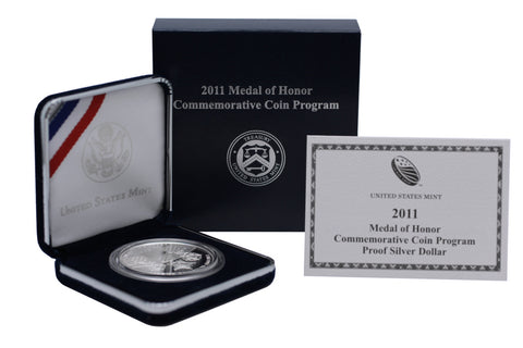 2011 Medal of Honor Commemorative Silver Dollar Proof