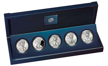 2011 Silver American Eagle 25th Anniversary 5-Coin Set