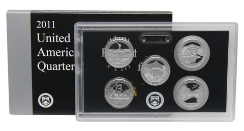 2011 Silver America the Beautiful Quarter Proof Set