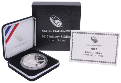 2012 Infantry Soldier Commemorative Silver Dollar Proof