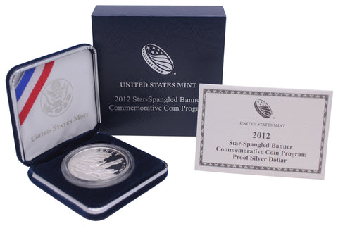2012 Star Spangled Banner Commemorative Silver Dollar Proof