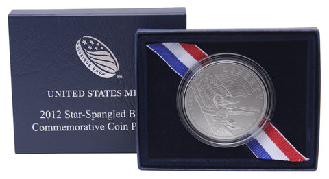 2012 Star Spangled Banner Commemorative Silver Dollar Uncirculated