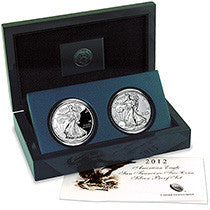 2012 Silver American Eagle 2-Coin Set