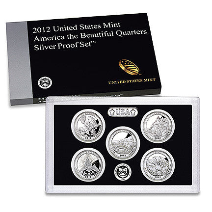 2012 Silver America the Beautiful Quarter Proof Set