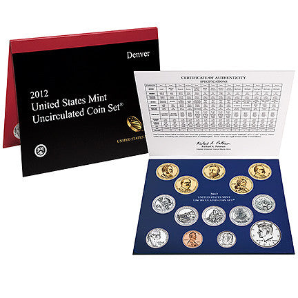 2012 US Mint Uncirculated Coin Set