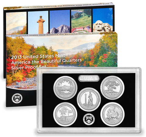 2013 Silver America the Beautiful Quarter Proof Set