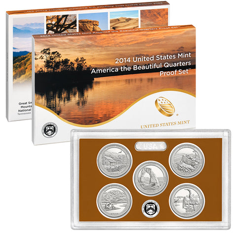 2014 America the Beautiful Quarter Proof Set
