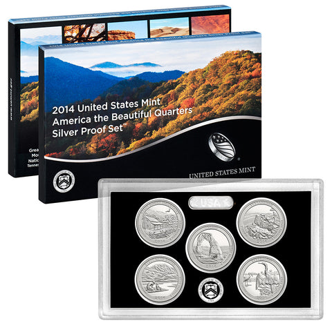 2014 Silver America the Beautiful Quarter Proof Set