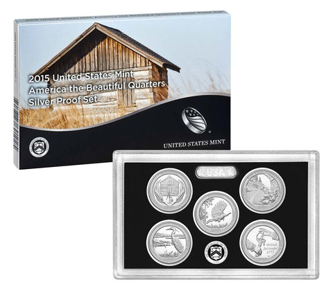 2015 Silver America the Beautiful Quarter Proof Set