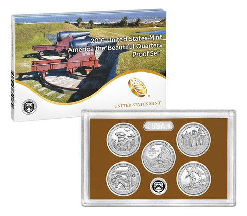 2016 America the Beautiful Quarter Proof Set